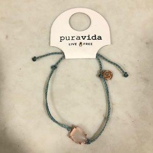 Pura Vida Rose Gold Sea Glass Bracelet